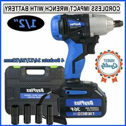 1/2''21V Electric Cordless Impact Wrench Torque Drill Ratche