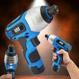 12V Max Brushed Powerful Cordless Impact Screwdriver Drill w