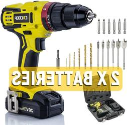CACOOP 20v cordless hammer drill set with battery and charge