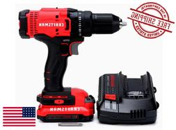 CRAFTSMAN 20V Max 1/2-in Cordless Drill w/ Charger & 1-Batte