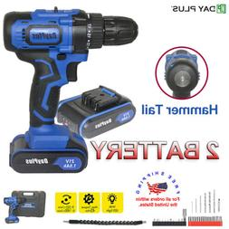 21V CORDLESS COMBI Hammer DRILL DRIVER ELECTRIC POWER SCREWD