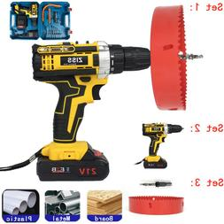 "21V Cordless Drills Set 3/8"" Electric Drill Driver Tool with"