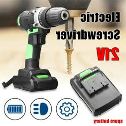 21V Cordless Drill Driver Electric Battery Power Screwdriver