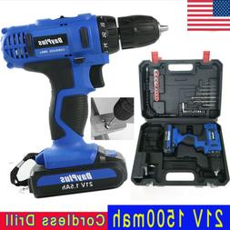 21V Drill 2 Speed Electric Cordless Drills/Driver Screwdrive