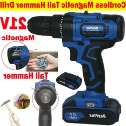 21V Electric Drills Household Lithium Battery Cordless Drill