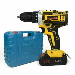 21V Max Power Electric Cordless Drill 2-Speed Driver w/ Bits