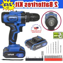 NEW 21V Power Cordless Drill Driver Electric Rechargeable Wi