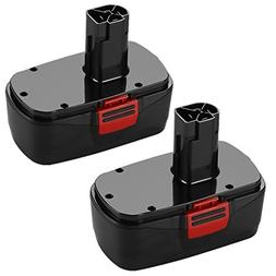 ENERMALL 2 Pack 3.0Ah Ni-MH for Craftsman 19.2 Volt Battery