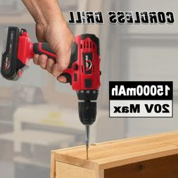 3/8inch 20V Cordless Drill Electric Wireless Power Driver ba
