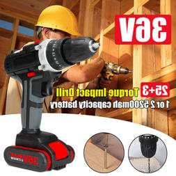 36V Cordless Lithium Electric Screwdriver Rechargeable Hand