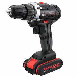 36V Cordless Power Drills Dual Speed Electric Screwdriver Dr