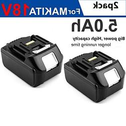 2Pack NEW 18V 5.0AH Lithium-Ion Battery For MAKITA BL1830 BL