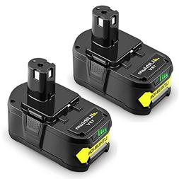 Powilling 2Pack 5.0Ah 18V Replacement Battery for Ryobi 18V