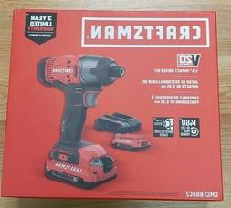 CRAFTSMAN CMCF800C2 V20 Cordless 1/4 IN. Impact Driver Kit