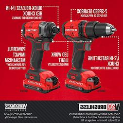 CRAFTSMAN CMCK210C2 V20 Brushless Compact 2 Tool Combo Kit