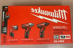 Cordless 3 Tool Combo Kit Screwdriver Impact Wrench Workligh