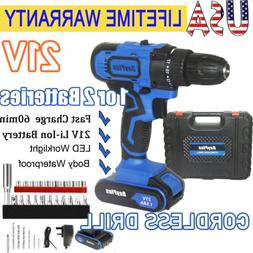 Cordless Brushed Drill Screwdriver Driver Drills Power With