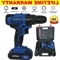 CORDLESS COMBI DRILL DRIVER ELECTRIC BATTERY POWER SCREWDRIV