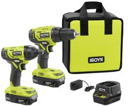 Cordless Drill and Compact Driver 2-Tool Combo Kit with 2 Ba
