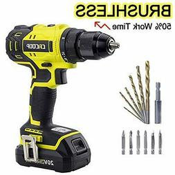 Cacoop Cordless Drill Driver Set, 20V Brushless Compact Dril