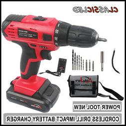 Cordless Drills Power Tool Kit - Portable Drill Driver 18v f