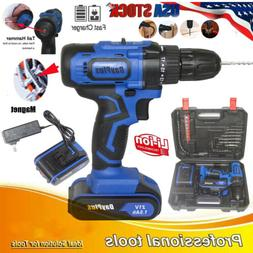 Cordless Drills w/ Hammer Action & Cordless Screwdrivers Kit