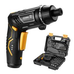 Cordless Electric Screwdriver Household with Twistable Handl