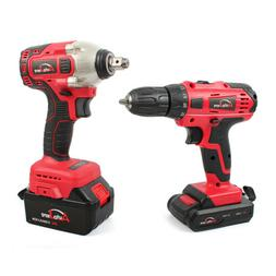 Cordless Impact Wrench + Cordless drill set battery powerful