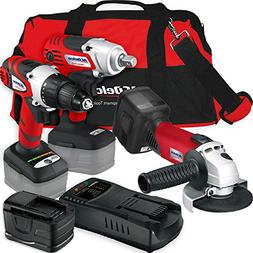 ACDelco Cordless Li-ion 18 MAX 3-in-1 Grinder Combo Tool Kit