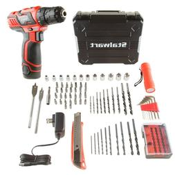 Stalwart 12V Cordless Rechargeable 2 Speed Drill 75 Pc Tool