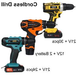 Electric Cordless Drill 21V/12V Electric Drill Combo Set wit