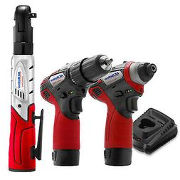 """ACDelco G12 Series 12V 1/4"""" & 3/8"""" 3 Tool Combo Kit with 2 B"""