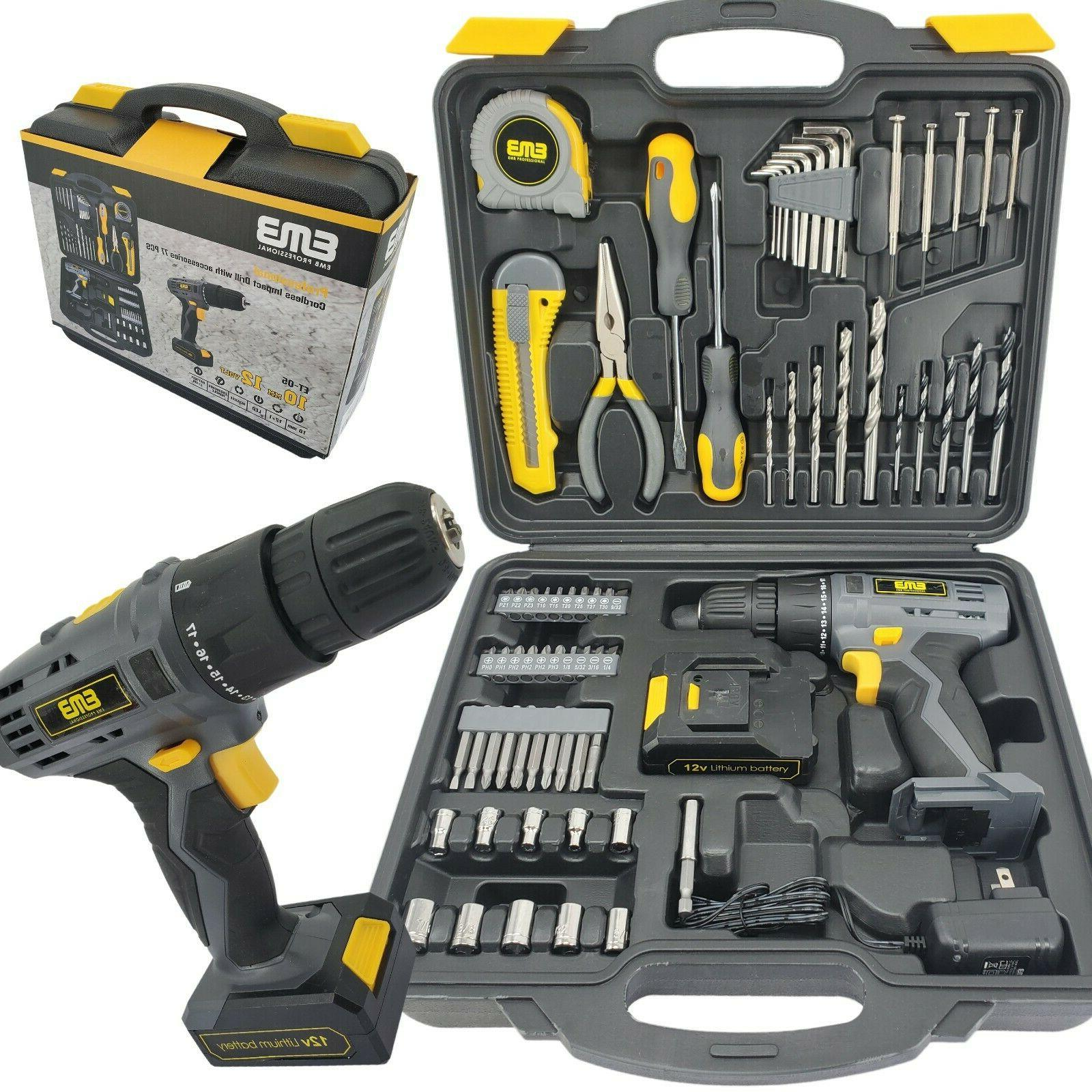 12V Cordless Driver Drill with