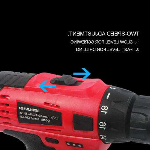 20-Volt Drill Electric Cordless Driver with &
