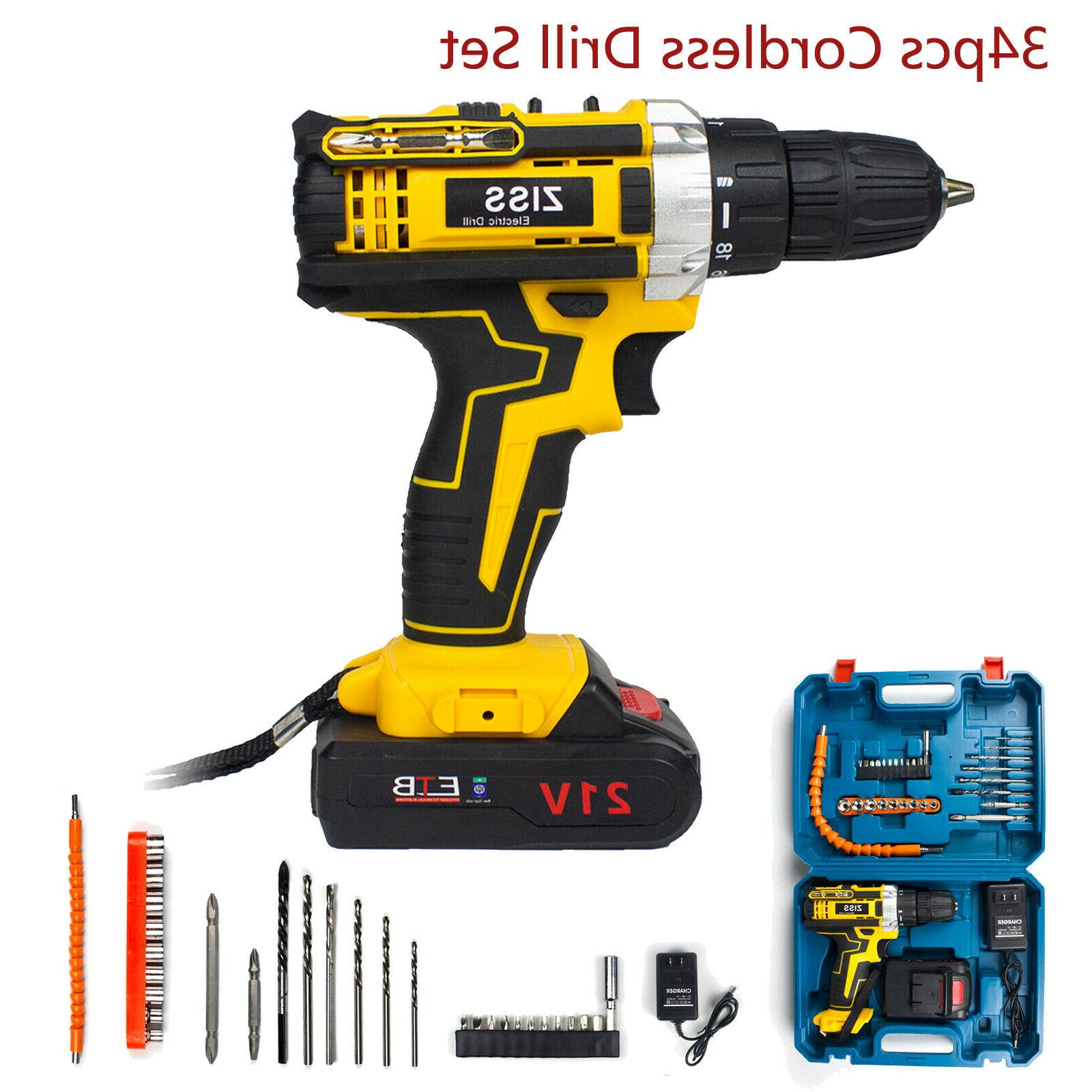 21V Electric Drill Electric Drill 30pcs Battery