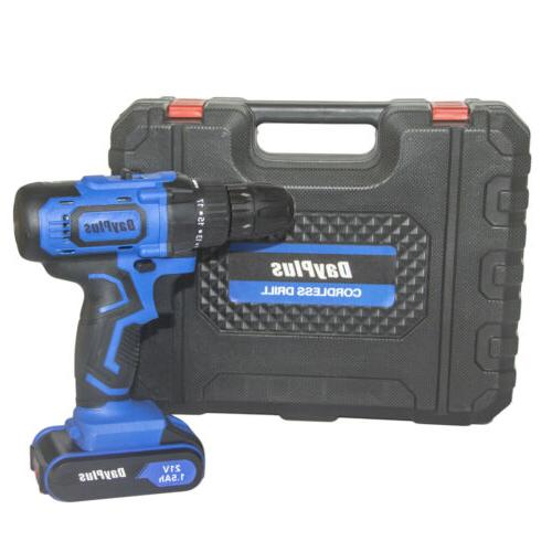 21-Volt drill Speed Driver with Bits & Battery