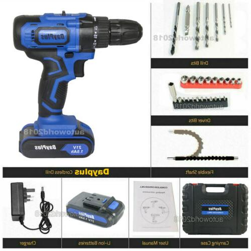 Electric Cordless Drill / Driver with & Battery
