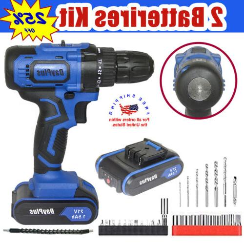 21v max powerful electric cordless drill 2