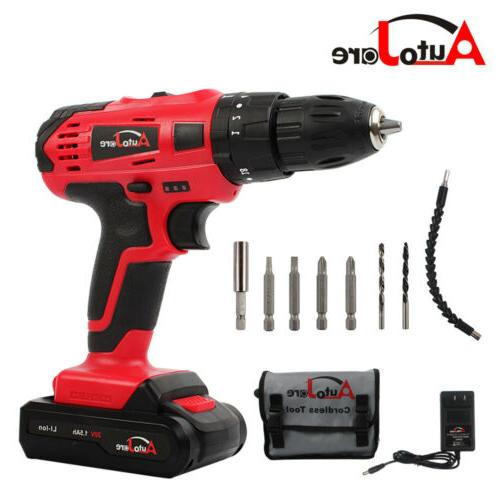 """New 3/8"""" Cordless Drill Brushed Driver Drill li-ion battery"""