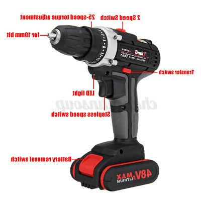 48V Cordless 2 Speed Electric Wireless Power