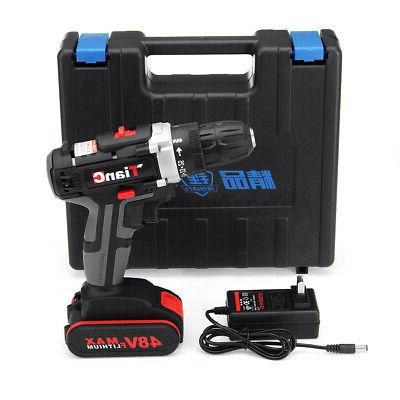 48V Cordless Drill 2 Speed Electric Power Driver+1