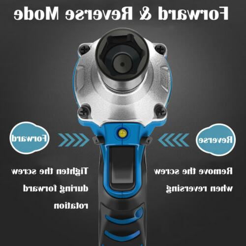 6000mAh Battery Electric Cordless Impact Wrench High NEW