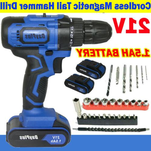 cordless drills w hammer action and cordless