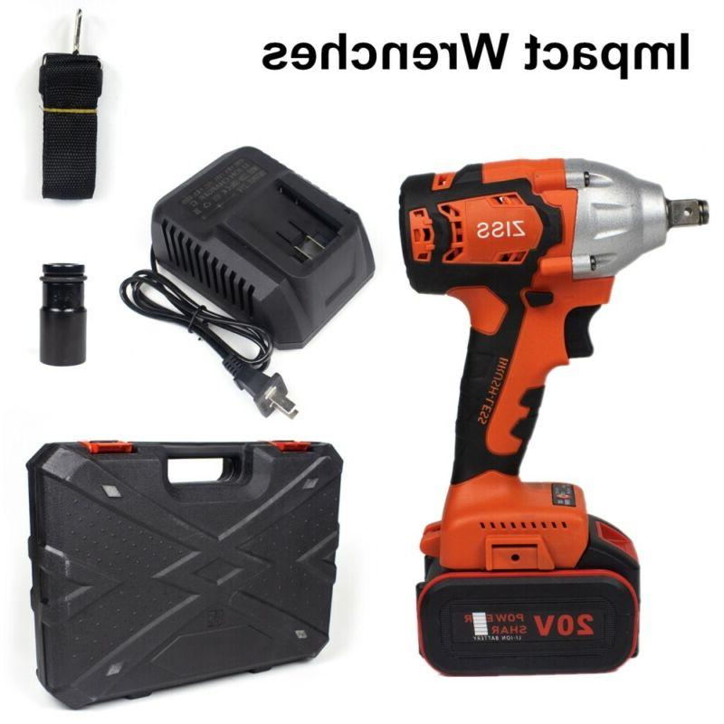 "20V Cordless Impact Wrench 1/2""Brushless Electric Wrench Dri"