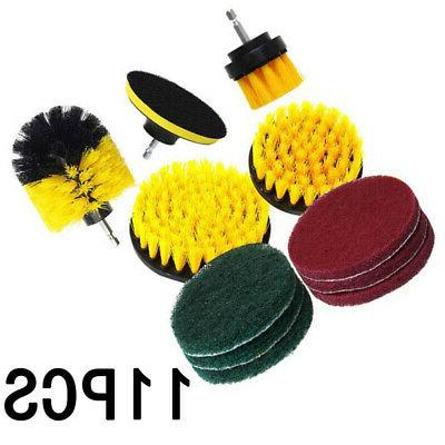 11PCS Drill Brush Scrub Pads Power Purifier Cleaning Kit For