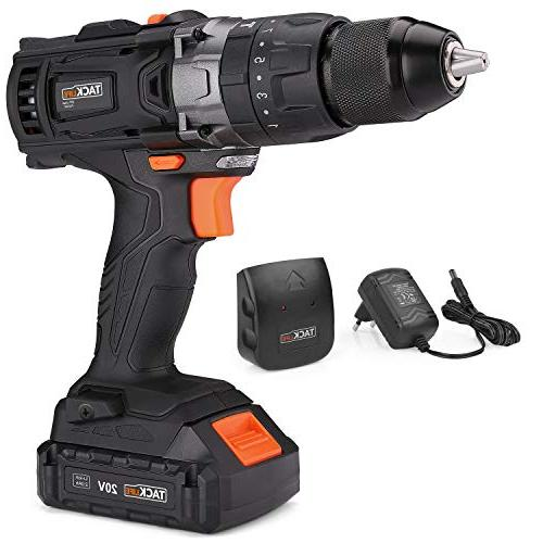Cordless Drill 2000Ah with Metal Auto-locking Chuck Max and Position with LED,
