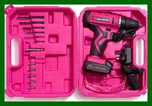 PINK Drill Electric Driver Kit For Women Rech