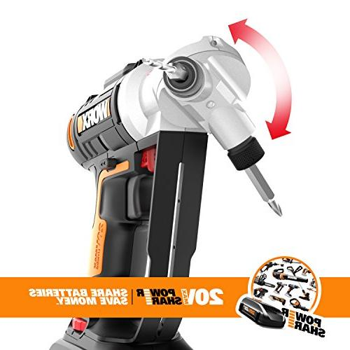 WORX WX176L 20V 2-in-1 Cordless Drill Driver with Precise Control