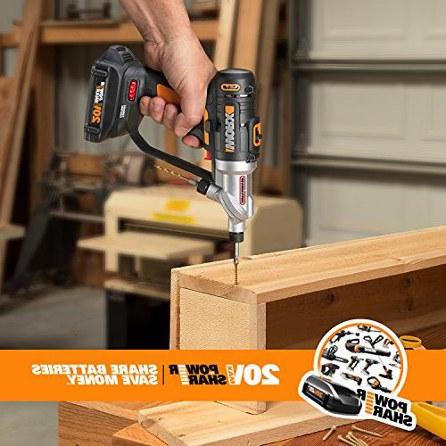 WORX WX176L Switchdriver Driver with Dual Chucks with Precise Electronic Control