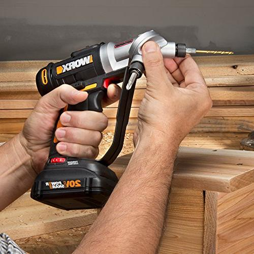 WORX 20V Switchdriver 2-in-1 Drill and Driver Dual Chucks Motor with Precise Control